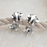 Sterling Silver Elephant Two Way Stud Earrings