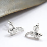Sterling Silver Raptor Claw Stud Earrings
