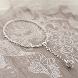 Sterling Silver Hanging Queenie Bracelet