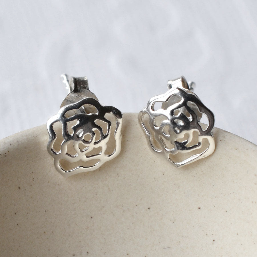 453d14edd Silver Rose Stud Earrings – Martha Jackson Jewellery