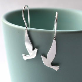 Silver Dove Earrings by Martha Jacklson
