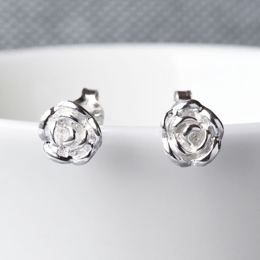 0181b0aba English Rose Silver Stud Earrings – Martha Jackson Jewellery