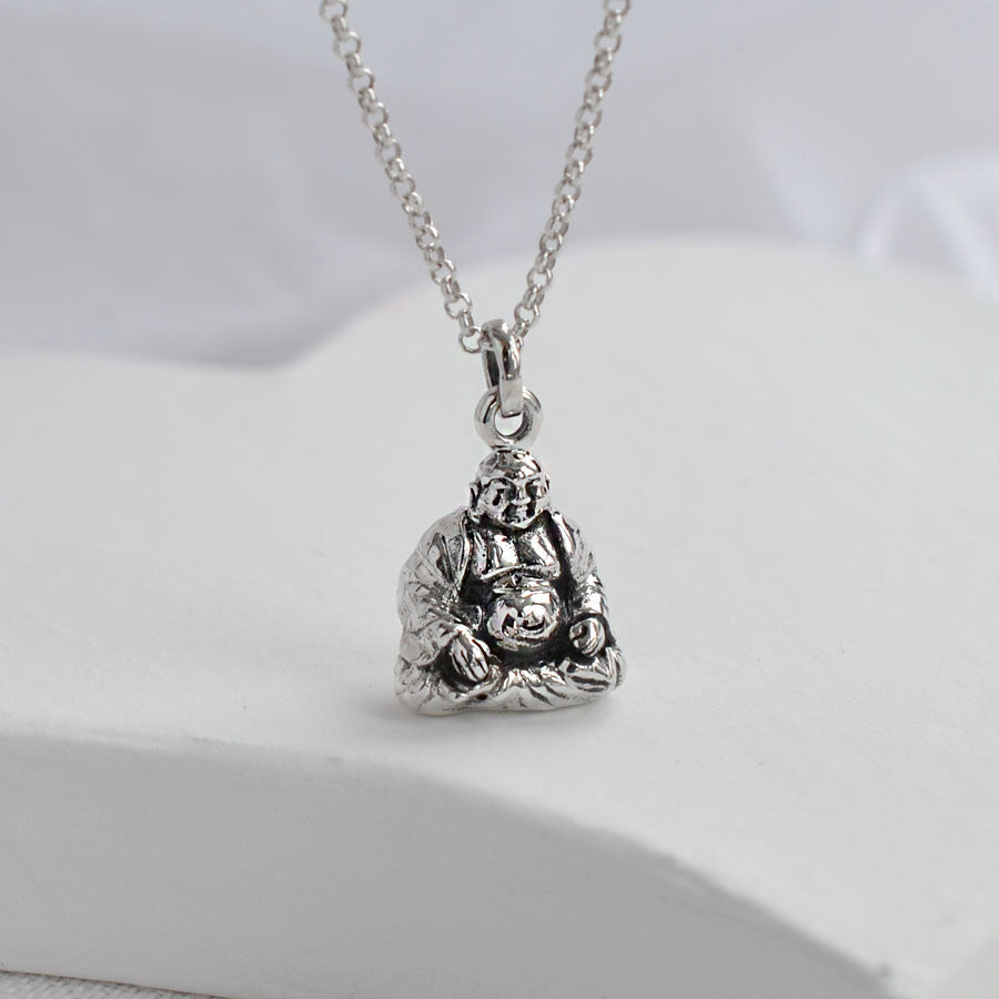 Sterling Silver Buddha Necklace