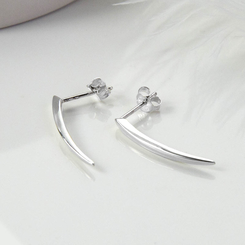 Sterling Silver Elegant Stud Earrings