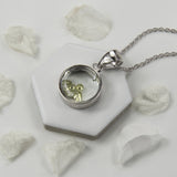 Sterling Silver and CZ Glass Locket