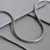 Sterling Silver Oval Snake Necklace