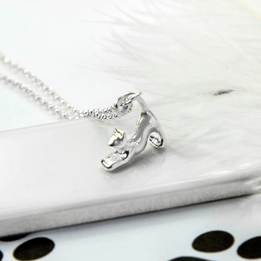 Sterling Silver Pussycat Necklace