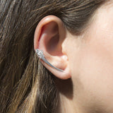 Sterling Silver Flower Ear Climbers
