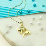 Gold Plated Sterling Silver Fish Necklace