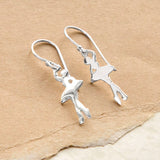 Sterling Silver Ballerina Earrings