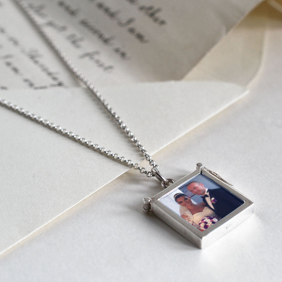 Sterling Silver Picture Frame Locket