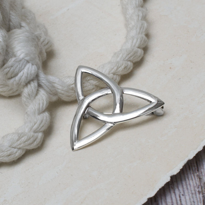 Sterling Silver Celtic Triquetra Brooch