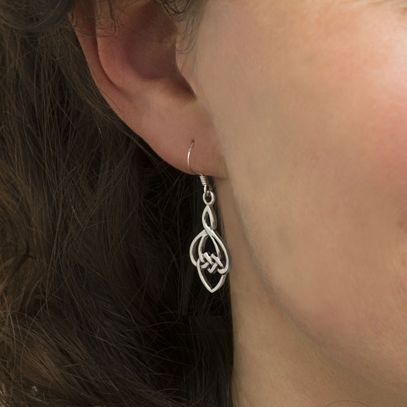Sterling Silver Celtic Bud Earrings
