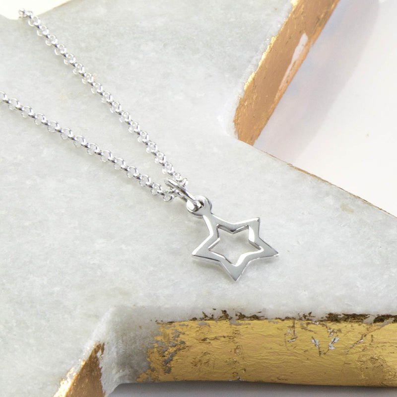 Sterling Silver Twinkle Star Necklace