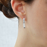 Silver Urban Shield Earrings