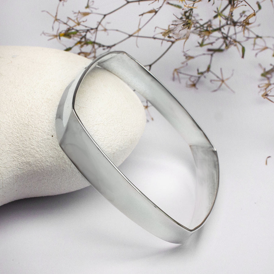 Sterling Silver Square Bangle