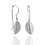 Sterling Silver Sugar Leaf Earrings