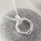 Sterling Silver Russian Rings Necklace