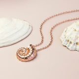 Rose Gold Plated Sterling Silver Nautilus Shell Necklace