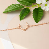 Rose Gold Plated Sterling Silver Antlers Bracelet