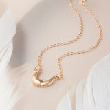 Rose Gold Plated Sterling Silver Horns Necklace