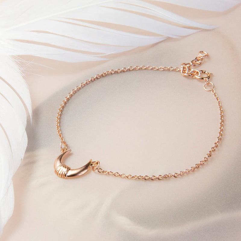 Rose Gold Plated Sterling Silver Horns Bracelet