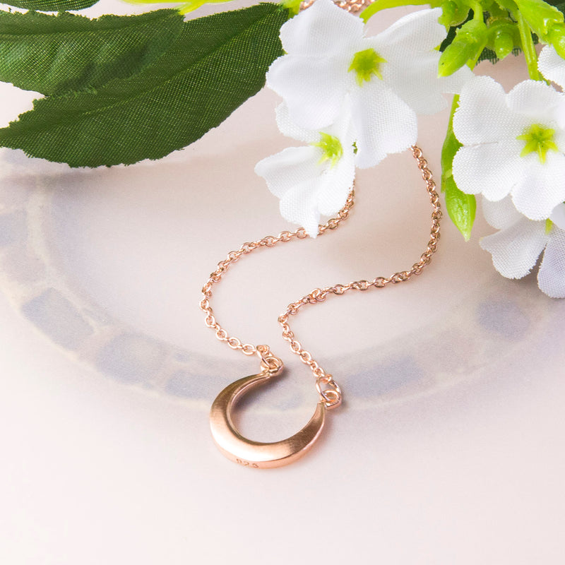 Rose Gold Plated Sterling Silver Horseshoe Necklace