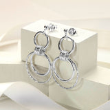 Sterling Silver Polished And Textured Rings Earrings