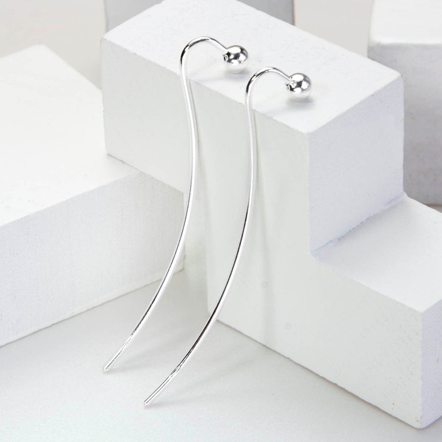 Sterling Silver Solid Threader Earrings