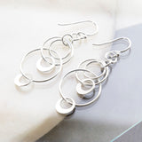 Sterling Silver Swinging Circles Earrings