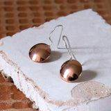 Rose Gold Plated Button Earrings
