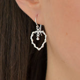 Sterling Silver Wire Heart Earrings