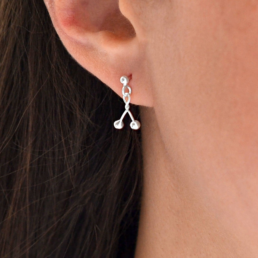 Sterling Silver Petite Twist Earrings