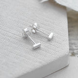 Sterling Silver Petite Drum Earrings