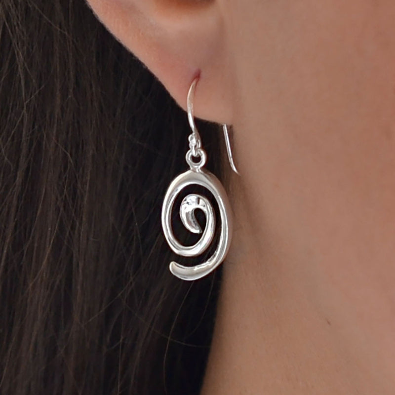 Sterling Silver Candy Curl Earrings