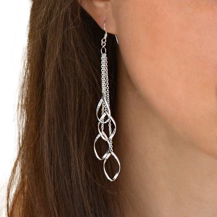 Sterling Silver Dangly Contessa Cascade Earrings