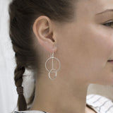 Sterling Silver Funky Circles Earrings
