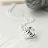 Sterling Silver Forever Knot Necklace