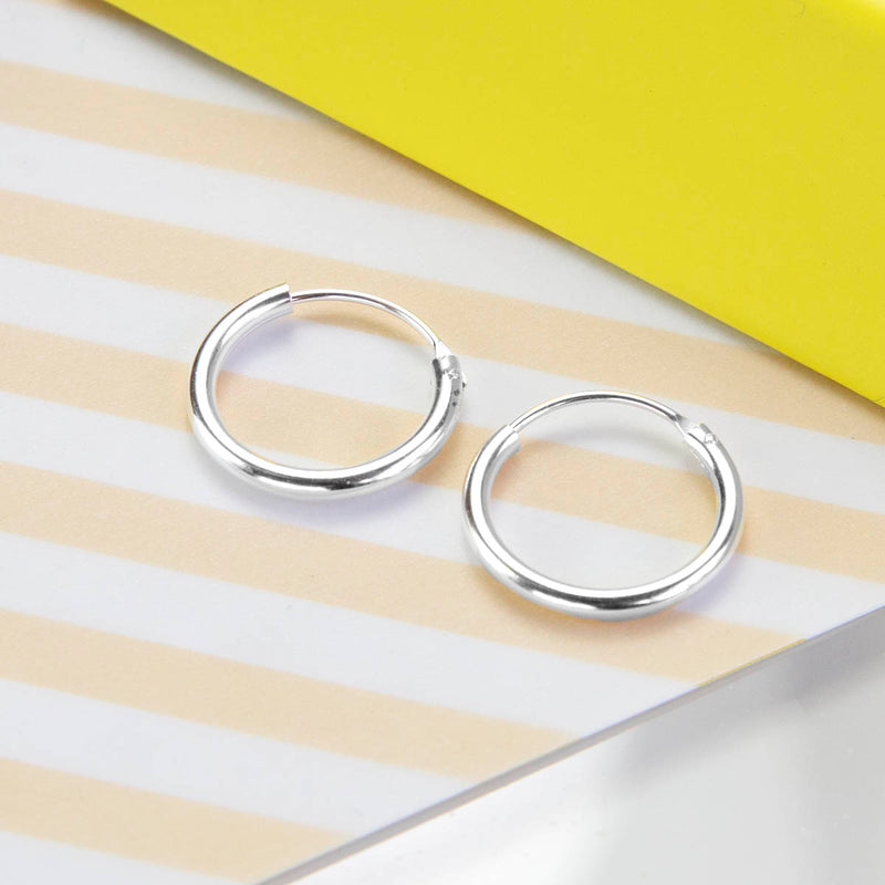 Sterling Silver 1.6cm Hoop Earrings