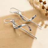 Sterling Silver Helter Skelter Earrings