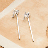 Sterling Silver Rod Stud Earrings
