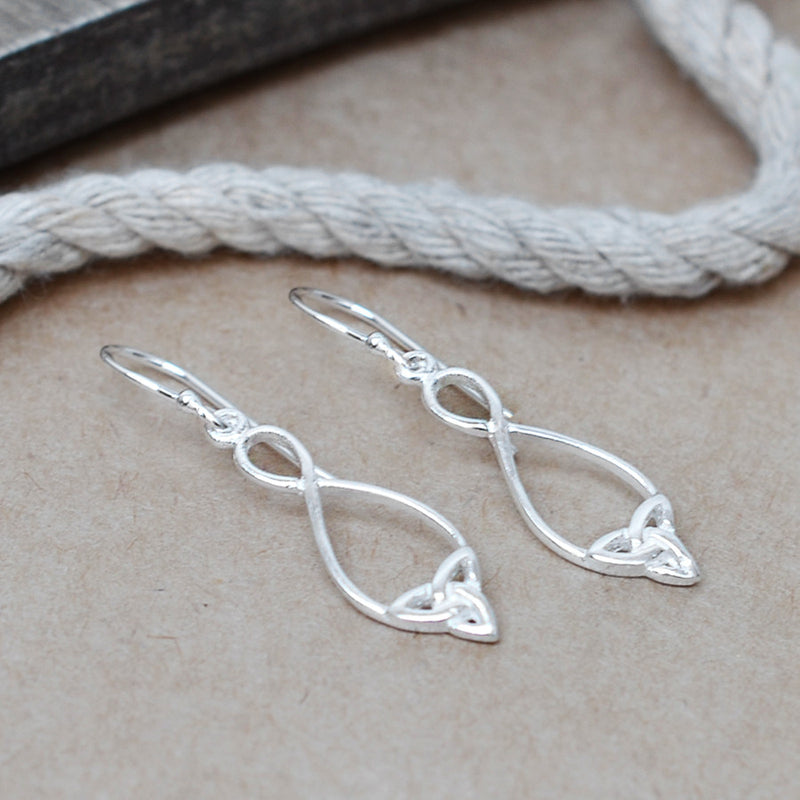 Sterling Silver Simple Celtic Loop Earrings
