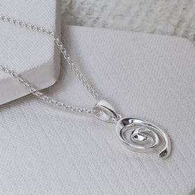 Sterling Silver Candy Curl Necklace