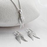 Sterling Silver Angel Wings Set