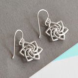 Sterling Silver Swirling Star Earrings