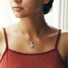 Sterling Silver Swirling Star Necklace
