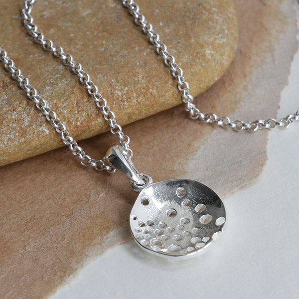 Sterling Silver Bubble Dish Necklace