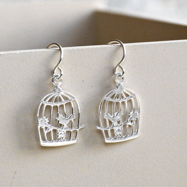 Sterling Silver Song Bird Earrings
