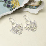 Sterling Silver River Ripples Earrings