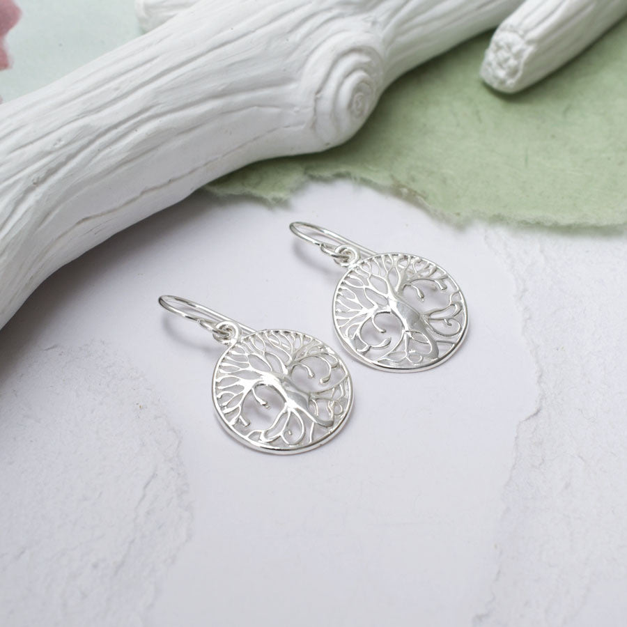 Sterling Silver Equality Tree Earrings
